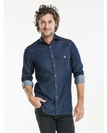 Shirt Men Chaud Devant Pure Denim Stretch