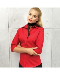 Blouses Premier 3 kwart poplin blouse Dames
