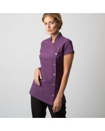 Dames easycare wrap button tuniek